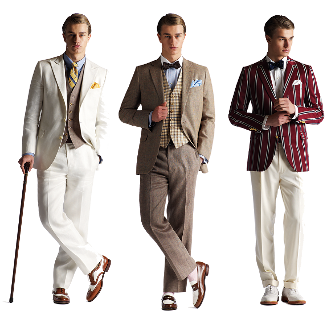 Tenues hommes par Cargo,collectives, collection great gatsby