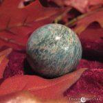 Sphère d'Amazonite utilisée pour le travail intérieur