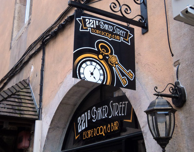 Le bar-escape room 221b Baker street, Dijon